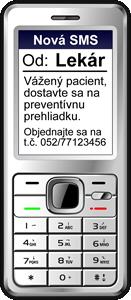 SMS pripomínanie preventívnych prehliadok a očkovaní
